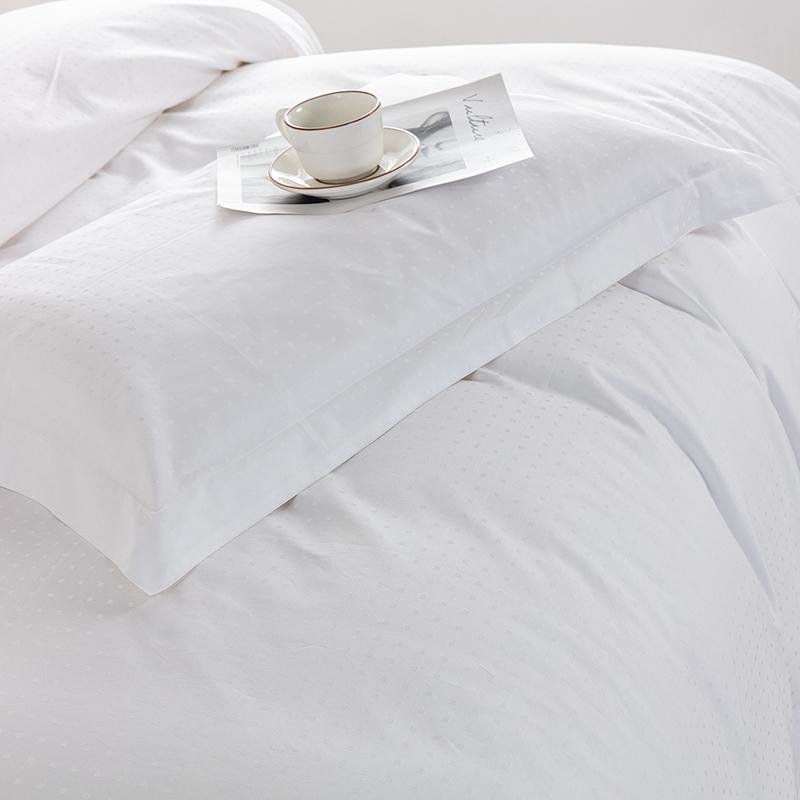 欣洁织造小点提花床上用品 客服布草定制 张杨18761004708